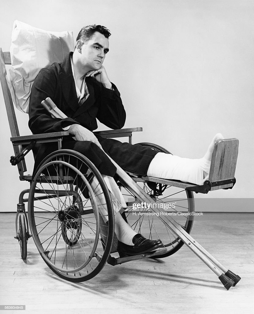 wheelchair man revolving chair define 1940s in stock photo getty images
