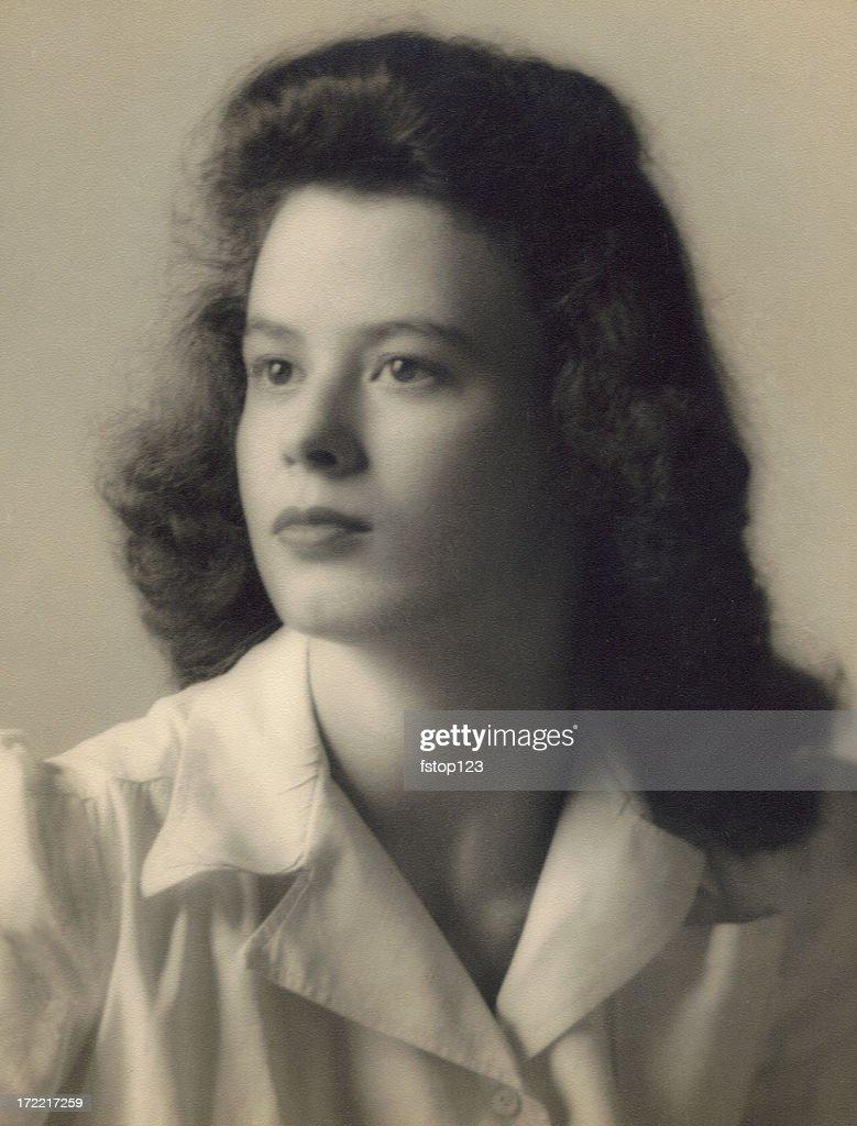 1940s teenager stock