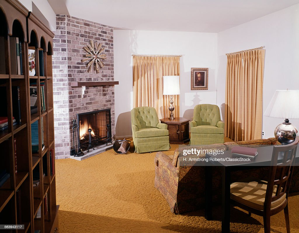 1960s 1970s Living Room Stock Photo   Getty Images