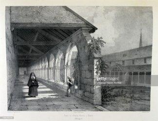 medieval church drawing hospital 19th century provins