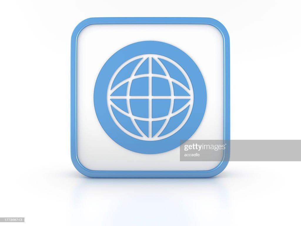 hight resolution of 3d shape world simbol icon stock photo
