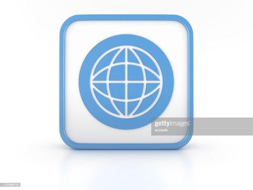 small resolution of 3d shape world simbol icon stock photo