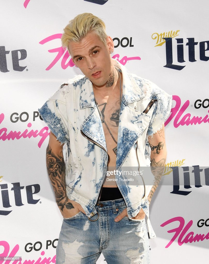 aaron carter performs at flamingou0027s go pool photos and images