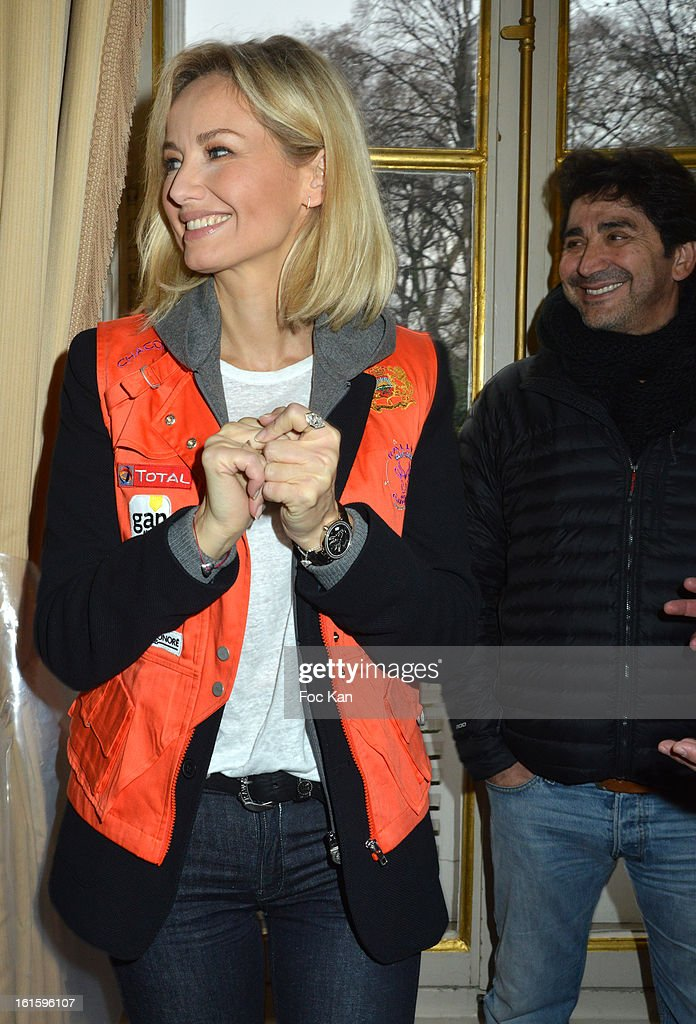 Adriana Karembeu and boyfriend Andre Ohanian attend the Rallye Aicha