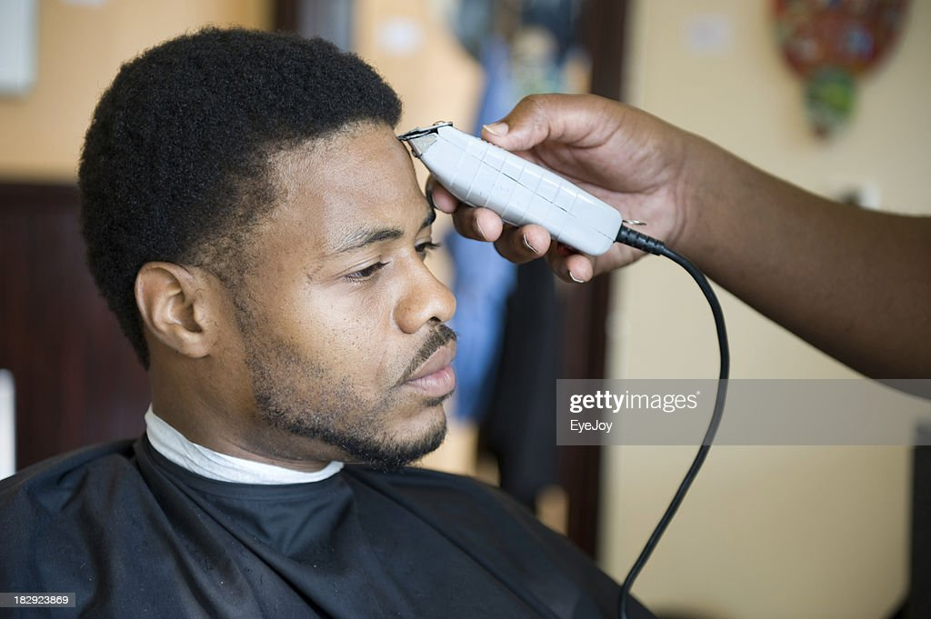 black barber stock