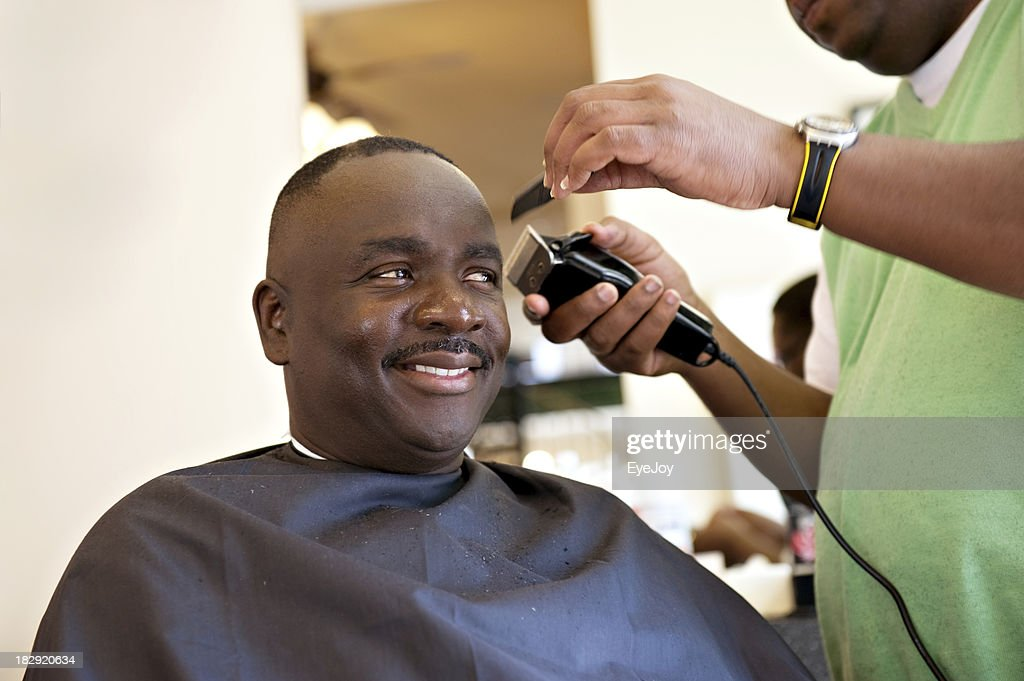 african american barber smile