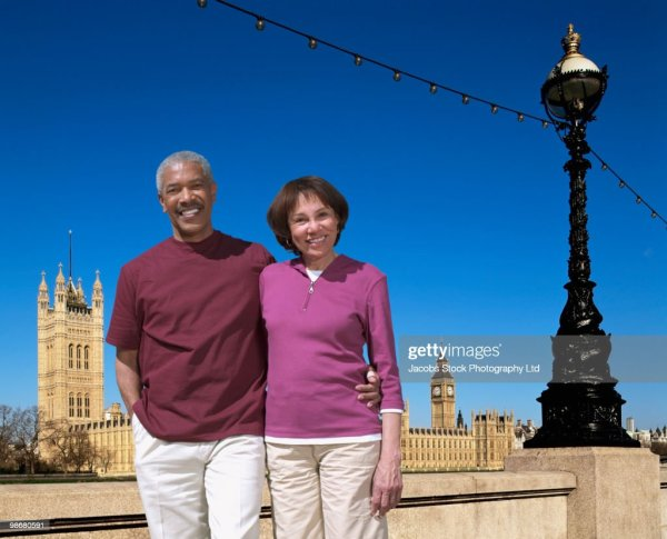 African American Couple Vacation Tourist Attraction