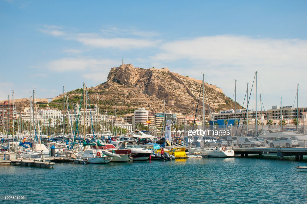 alicante harbour stock photo