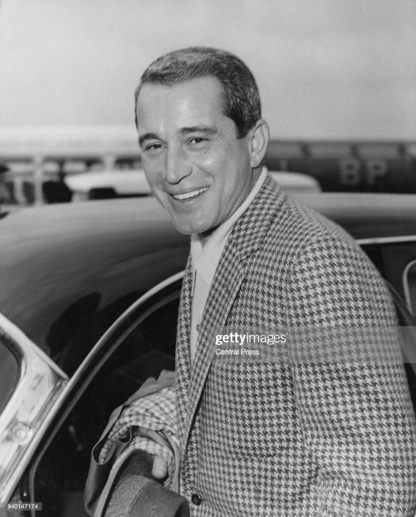 American singer Perry Como arrives at London Airport. 16th April 1960. News Photo - Getty Images