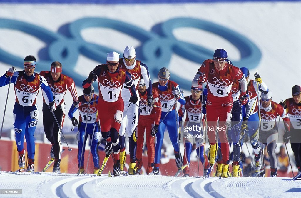 Anders Aukland Of Norway In The Bib Number One Leads The
