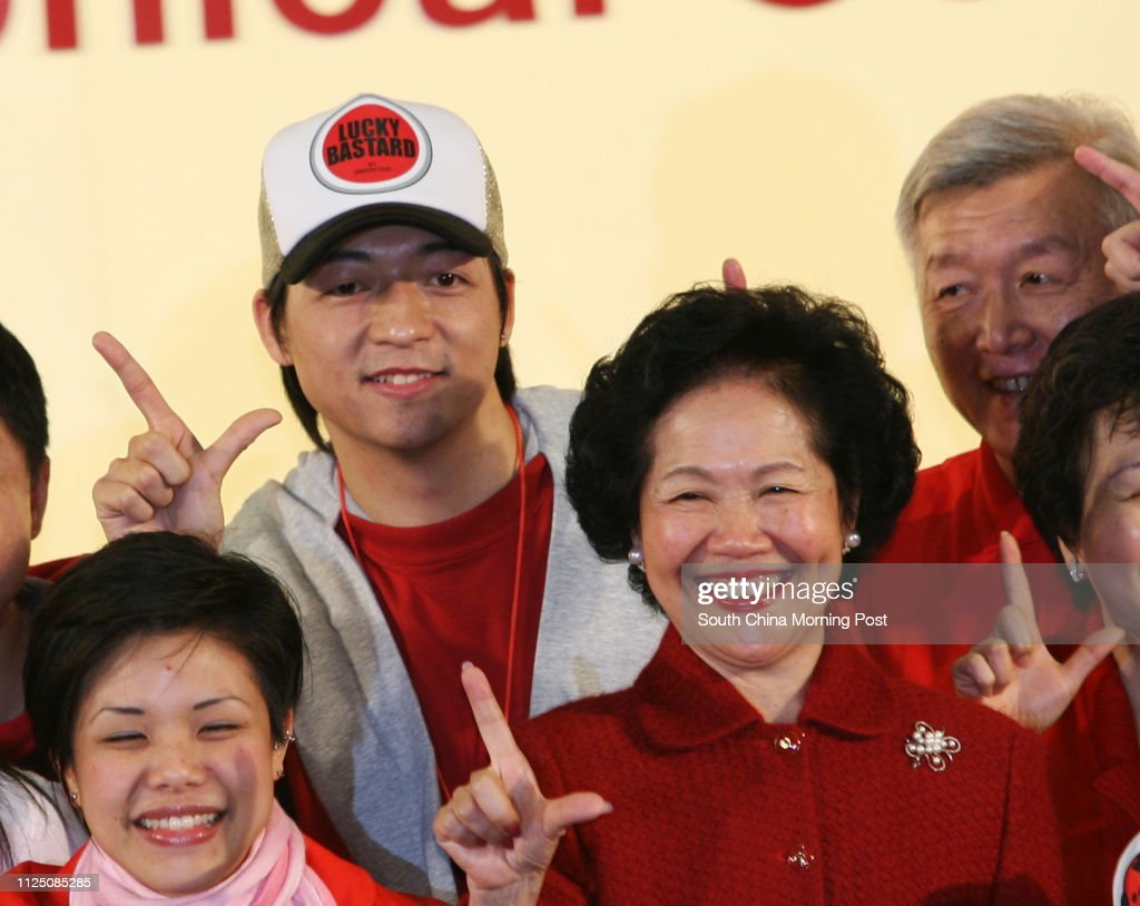 Anson Chan Fang On-sang celebrates the victory with her supporters... News Photo - Getty Images