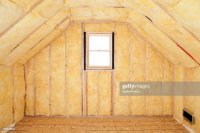 Attic Room Insulation Frame And Window Stock Photo | Getty ...