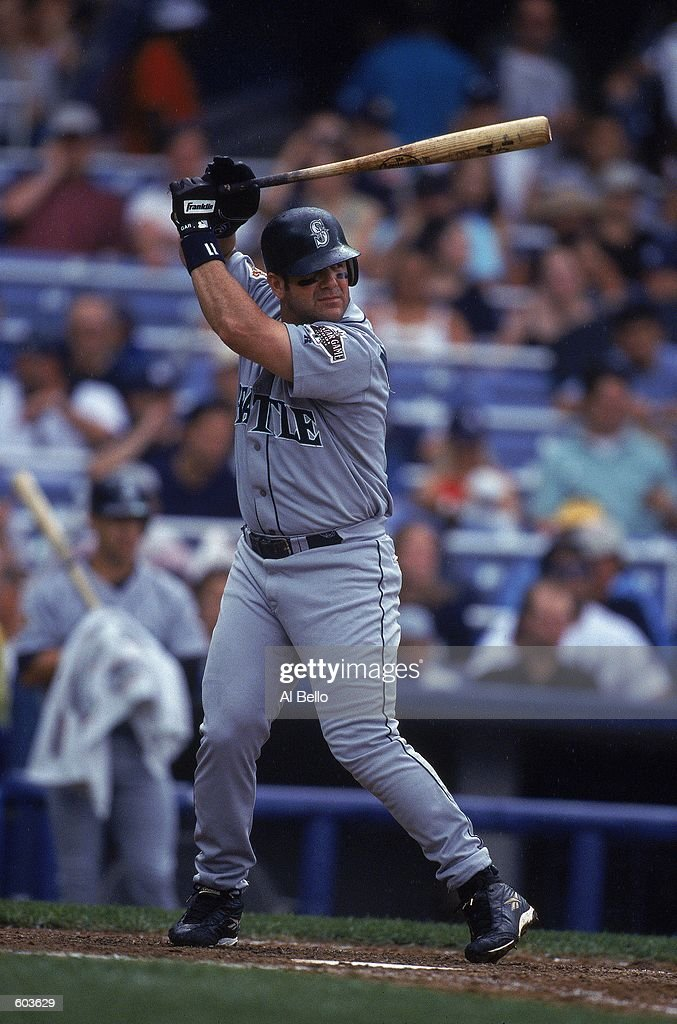 Edgar Martinez of the Seattle Mariners at bat during the game against... News Photo - Getty Images