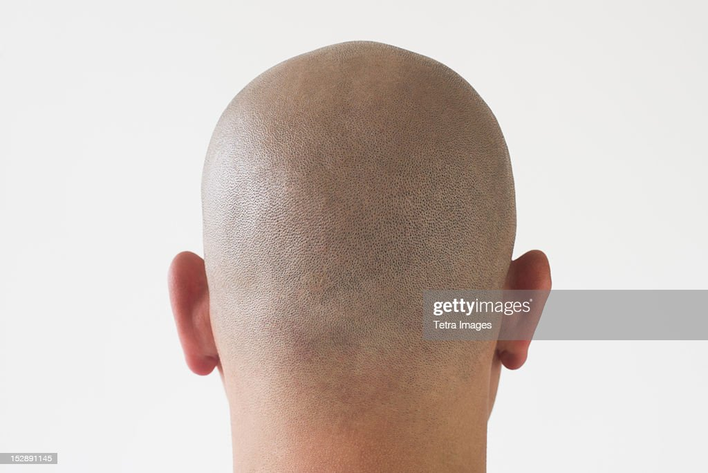 Back View Of Man With Shaved Head Stock Photo  Getty Images