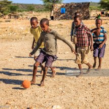 Africa Children Playing Football