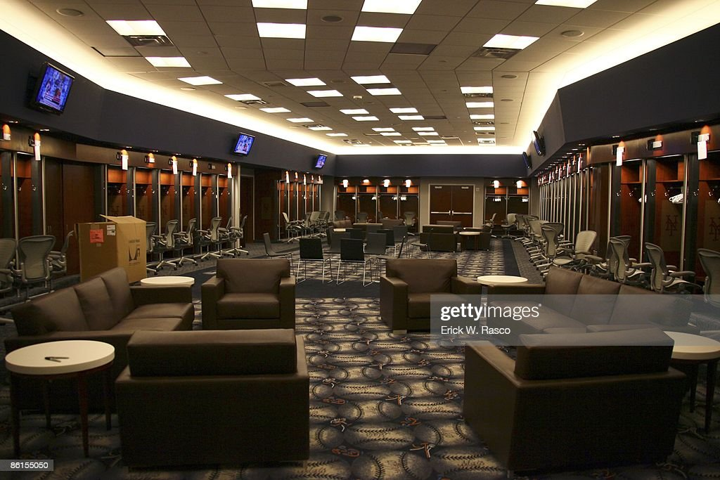 View of locker room at New York Mets new stadium Citi