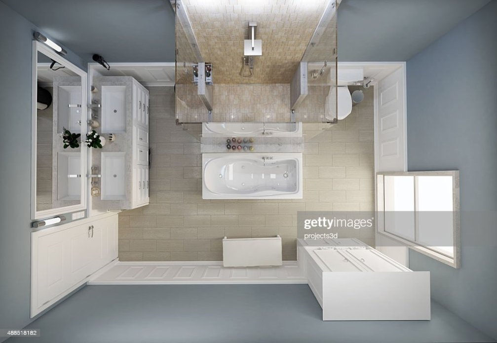 Bathroom Top View Stock Photo  Thinkstock