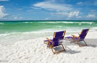 Beach Chairs At The Ocean Stock Photo | Getty Images