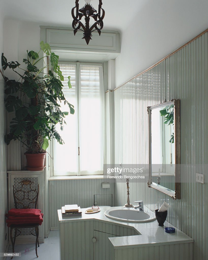 Paneling For Bathroom Beaded Paneling In Bathroom Stock Photo Getty Images