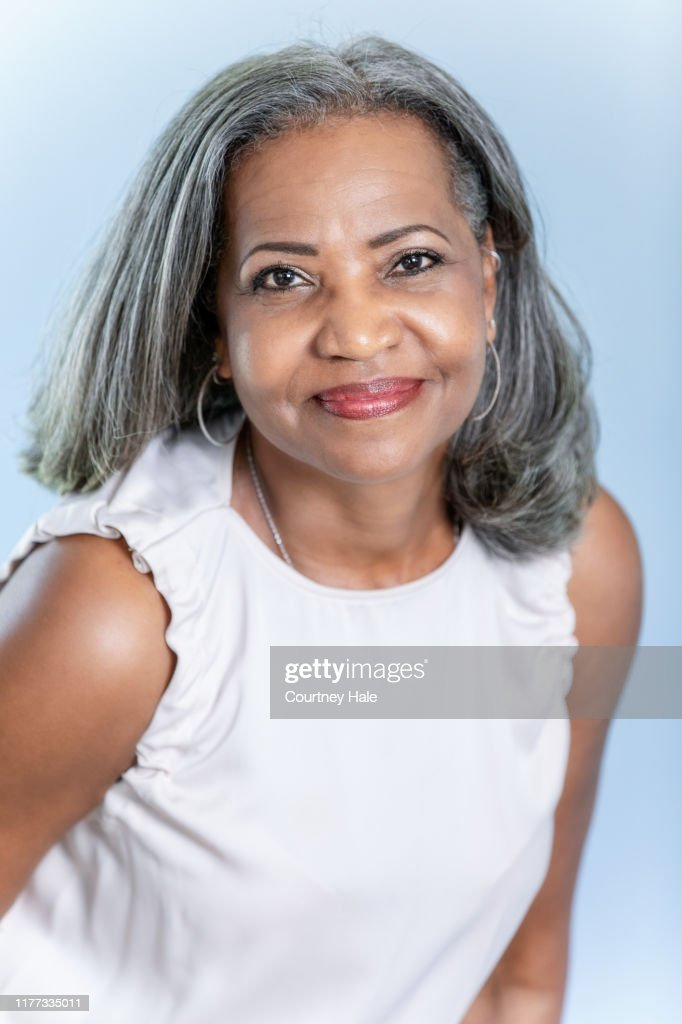 Elderly African American Natural Hair Stock Pictures Royalty Free