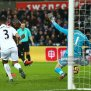 Benik Afobe Of Afc Bournemouth Scores The Opening Goal