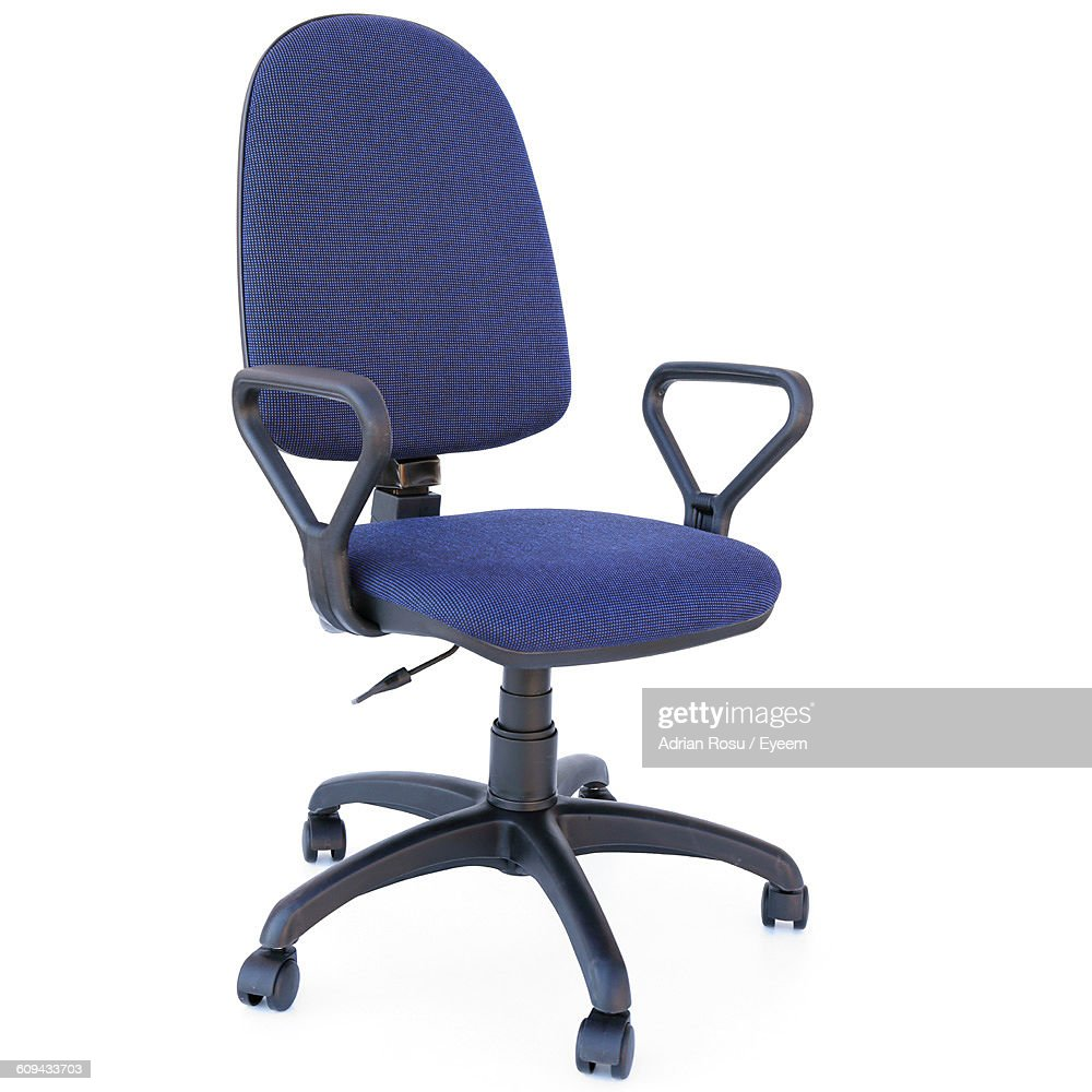 blue office chair bedroom chairs argos stock photos and pictures against white background