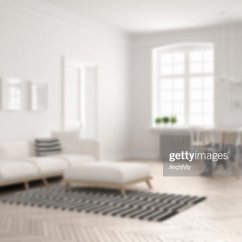 Bright Sofa Furniture Coimbatore Blur Background Interior Design Minimalist Living Room With And Dining Table Stock