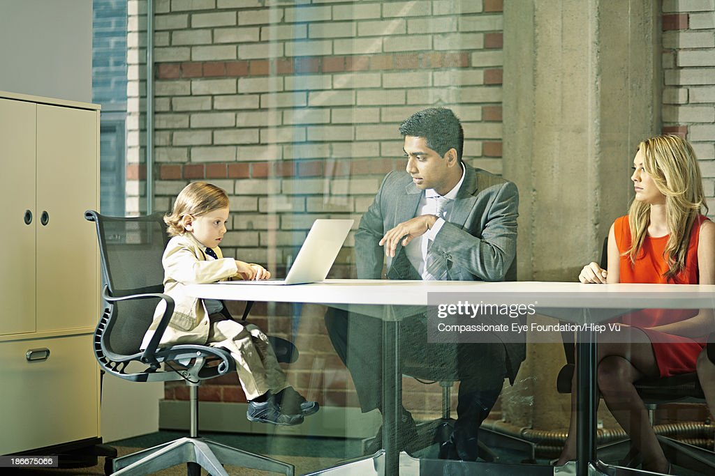 Boy Chairing Business Meeting Stock Photo  Getty Images