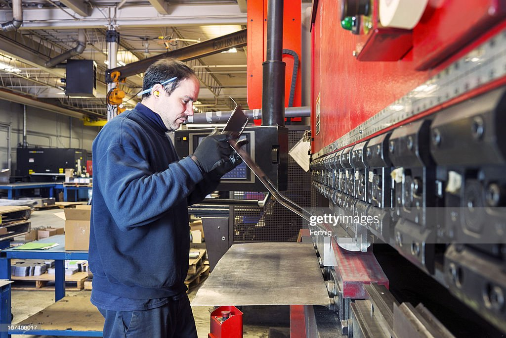 Worker Making Up Wiring Loom Stock Photo Getty Images