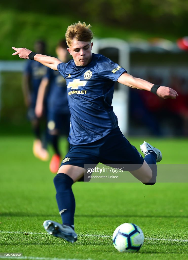 Brandon Williams Of Manchester United U18s In Action