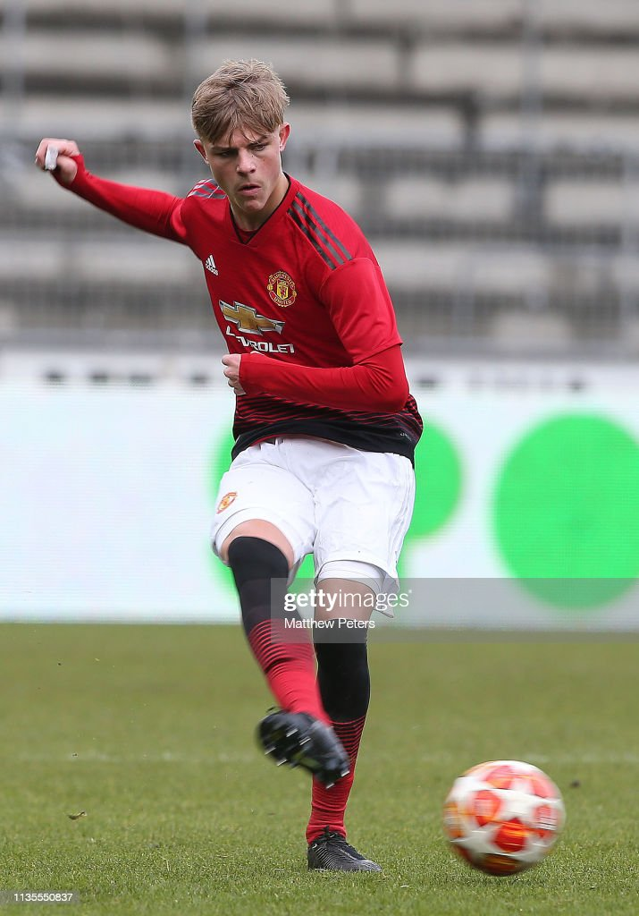Brandon Williams Of Manchester United U19s In Action