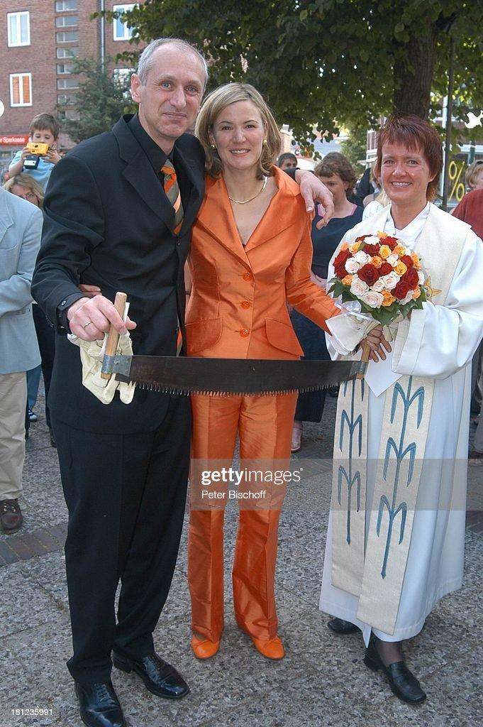 Braut Heike Gtz  Brutigam Detlef Lafrentz  Pastorin