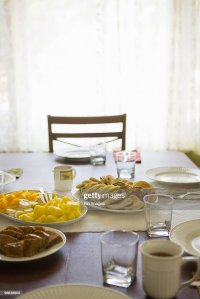 Breakfast Table Setting Stock Photo   Getty Images
