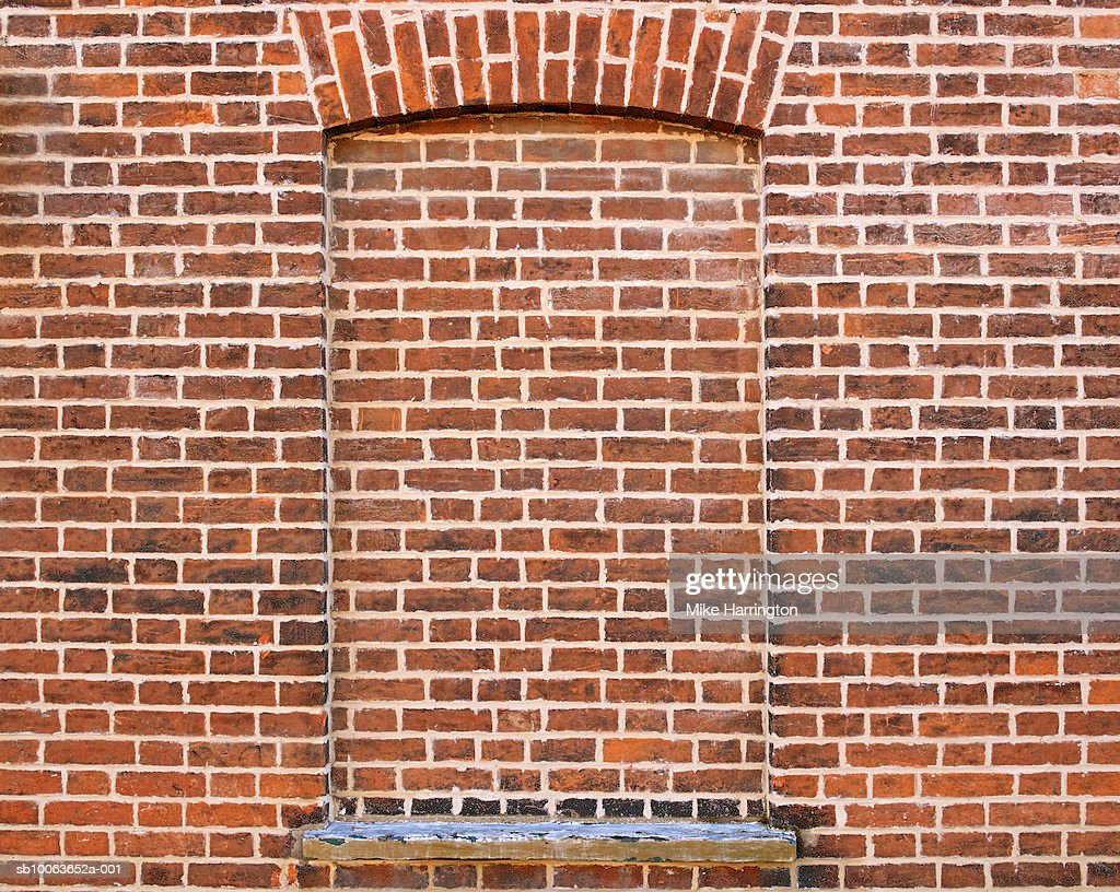 Bricked Up Window In Brick Wall Stock Photo  Getty Images