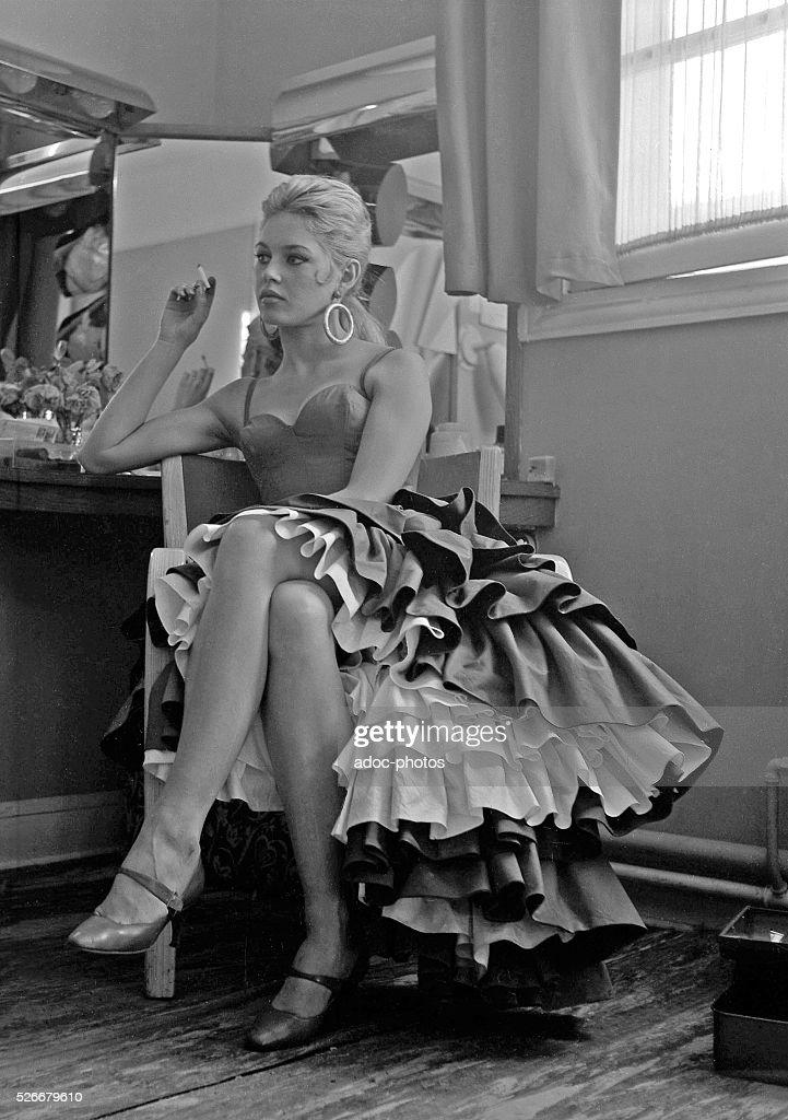 La Femme Et Le Pantin : femme, pantin, Brigitte, Bardot, During, Shooting, Femme, Le..., Photo, Getty, Images