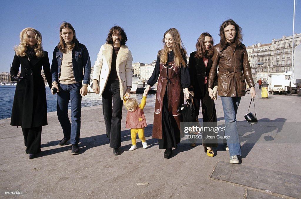 British Group Pink Floyd In Marseille Marseille Novembre