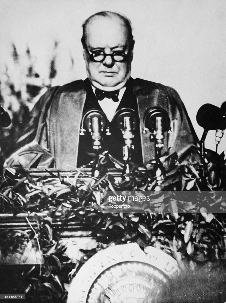 Churchill's Iron Curtain Speech Pictures Getty Images