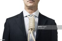 Businessman With Hanging Rope Instead Of Tie Stock Photo ...