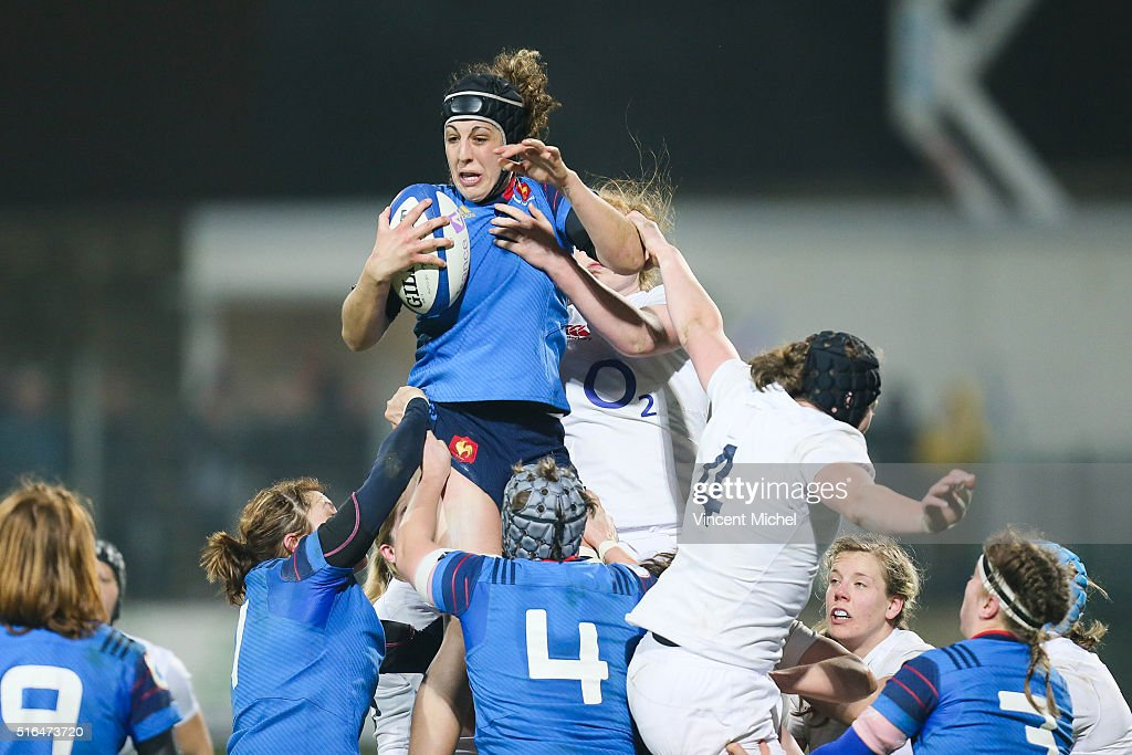 Celine Ferer of France during the Womens Six Nations France women and... News Photo - Getty Images