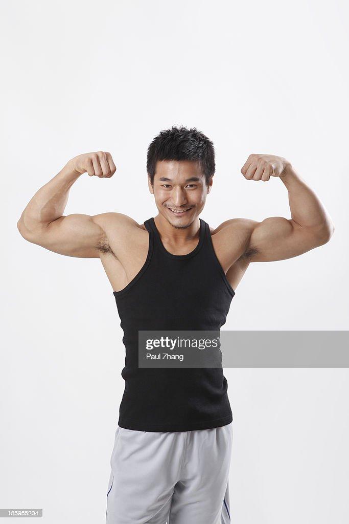 chinese male bodybuilder stock