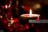 Christmas Eve Dinnertable Decorations Stock Photo | Getty ...