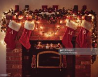 Fireplace With Stockings Stock Photos and Pictures | Getty ...