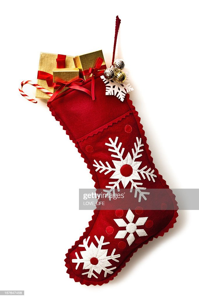 Close Up On Christmas Tree And Stocking Hanging On Fireplace Stock Stocking Stock-fotos Und Bilder | Getty Images