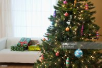 Christmas Tree In Living Room Stock Photo | Getty Images
