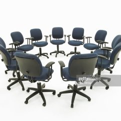 Co Chairs Circle Lounge Chair Cover Of Office Stock Photo Getty Images