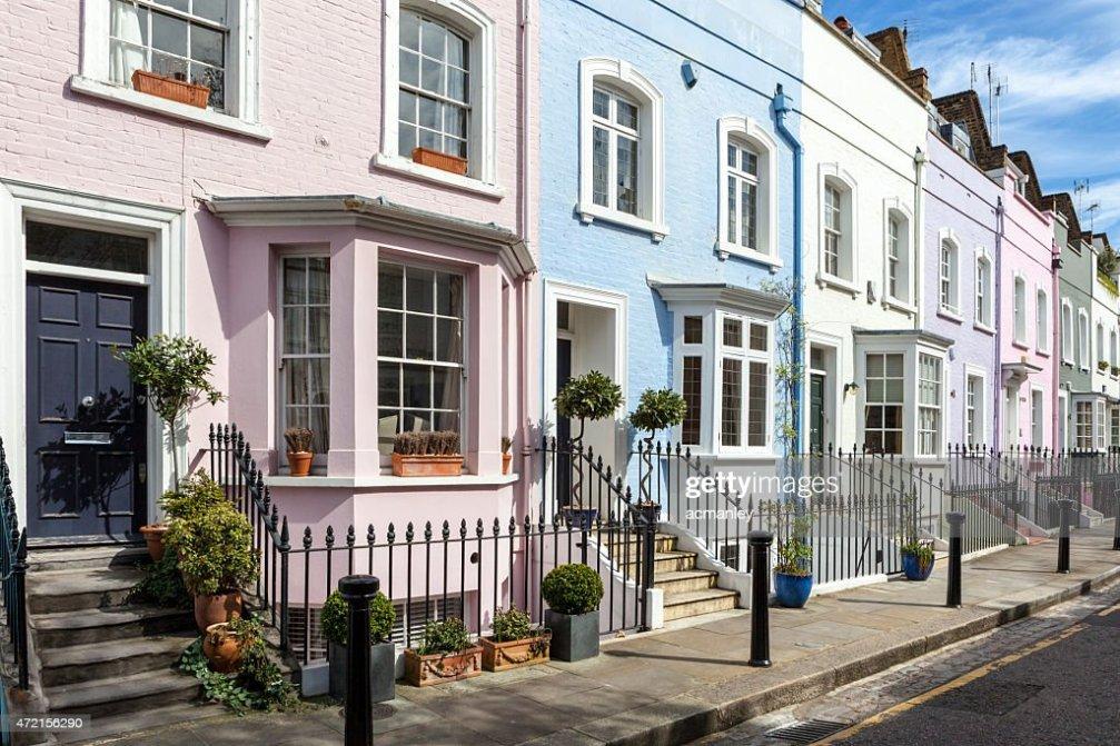 Colorato Case Di Londra Foto stock  Thinkstock