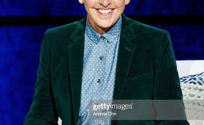Comedian Ellen Degeneres Seen Onstage During A