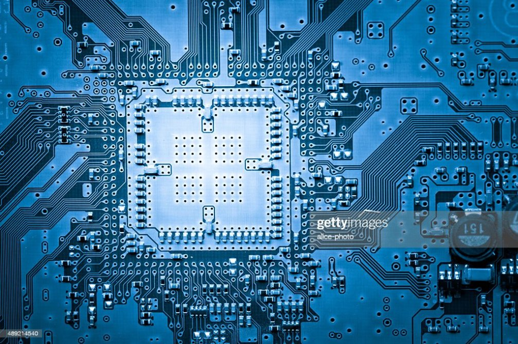 Connections On A Computer Circuit Board Stock Photo Getty Images