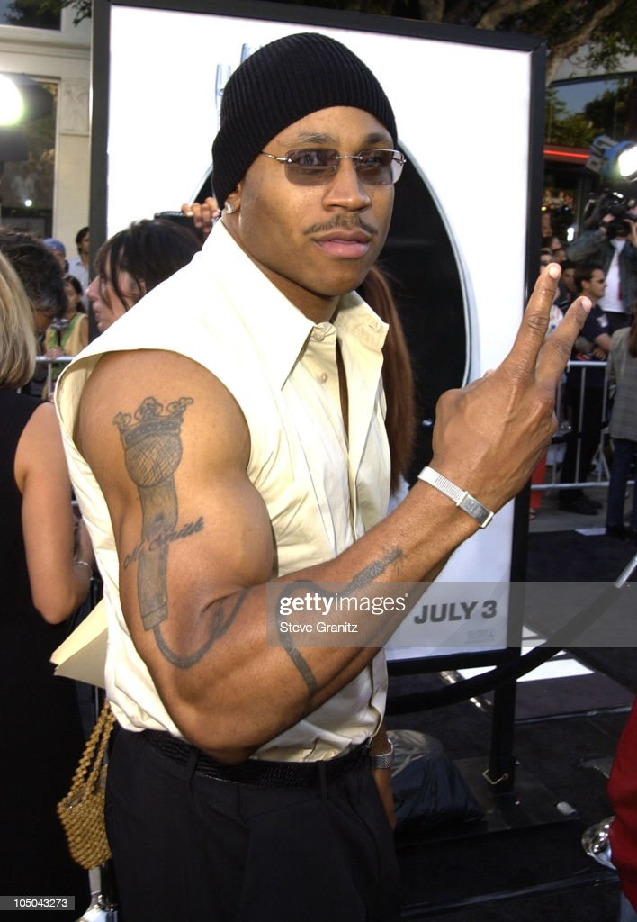 Ll Cool J Tattoos : tattoos, During, Black, Premiere, Village, Theatre..., Photo, Getty, Images