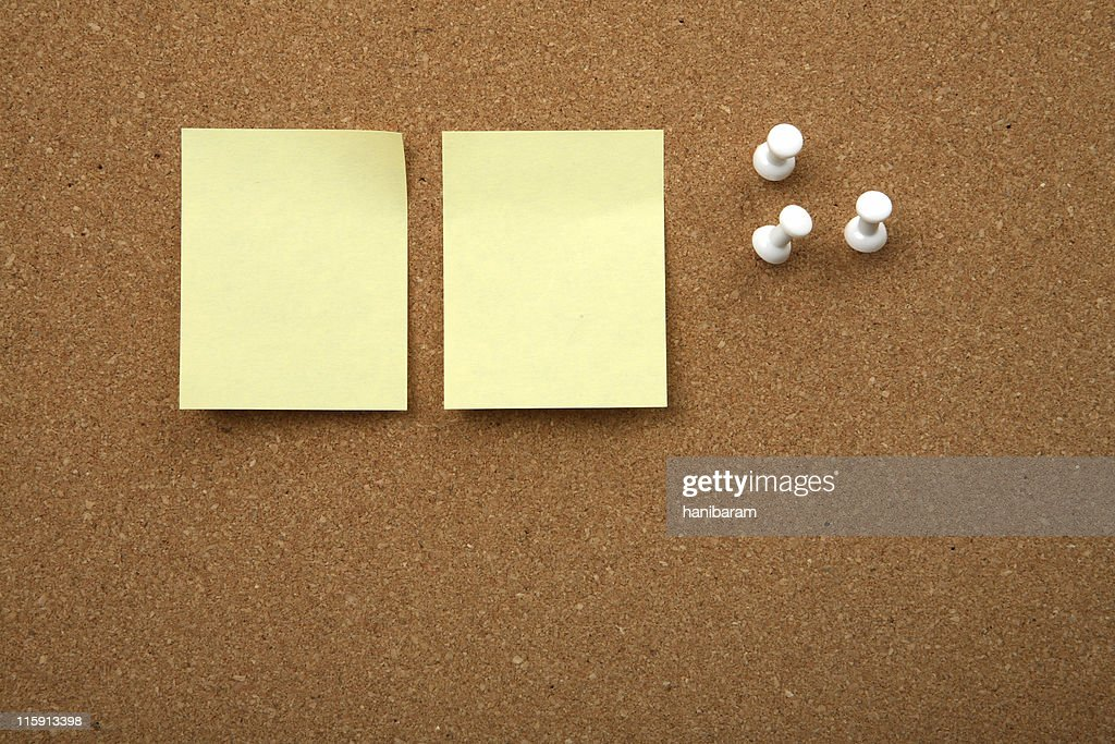 cork board with yellow
